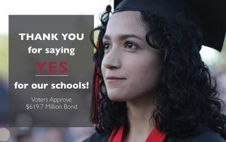 Thank you for voting yes on the bond!
