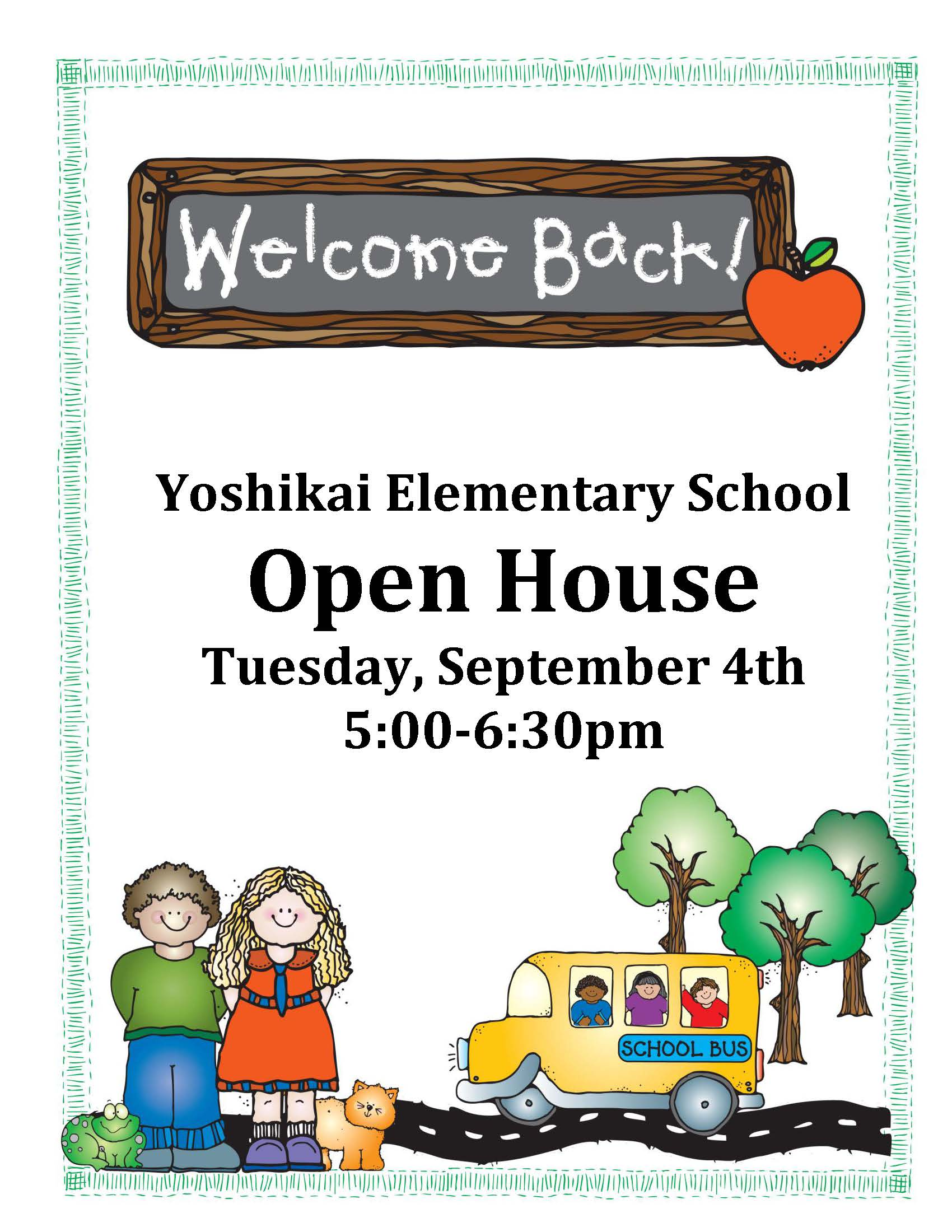 Back to School – Open House