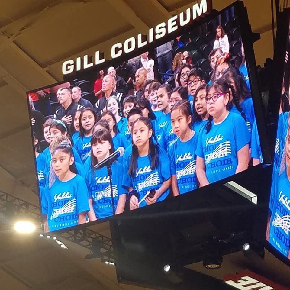 Yoshikai Choir sings at OSU Women's Basketball game on Nov. 21, 2019
